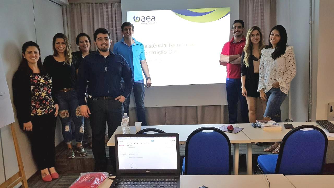 1º turma do curso - Assistência Técnica de Construção de Edifícios